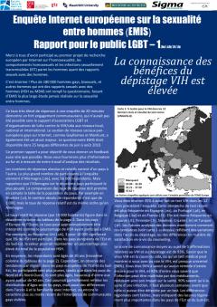 Enquête européenne 2010 sur la sexualité entre hommes (EMIS) : rapport pour le public LGBT no 1 (décembre 2010)